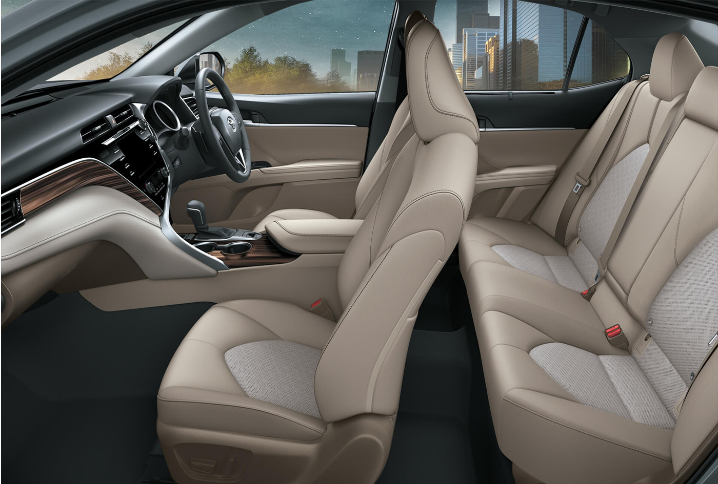 Toyota Camry: Types of collisions that may not deploy the SRS airbags (SRS side and curtain shield airbags)